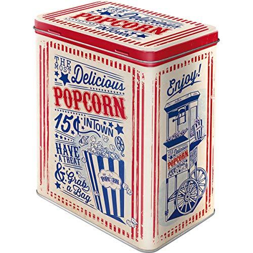 Nostalgic-Art Retro Vorratsdose L Popcorn – Geschenk-Idee für USA-Fans, Große Kaffee-Dose aus Blech, 3 l