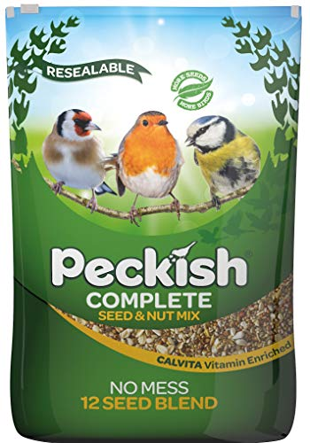 Peckish Complete Seed and Nut No Mess Wild Bird Food Mix, 12.75kg