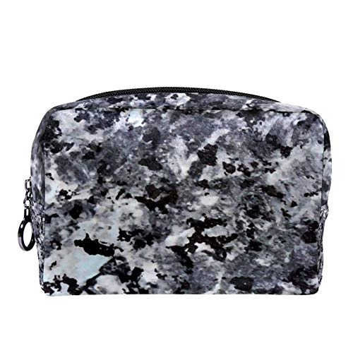 Cosmetic Bag Womens Makeup Bag for Travel to Carry Cosmetics Change Keys etc,Art Camouflage Black Marble