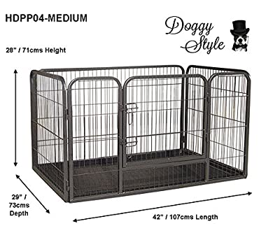 Bunny Business Heavy Duty Whelping Pen With Abs Tray 4 Sizes Puppy Playpen Play Pens