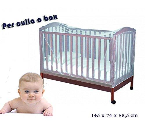 MEDIA WAVE store Zanzariera universale per culle lettini e box 145 x 74 x 82,5 cm Mosquito Net