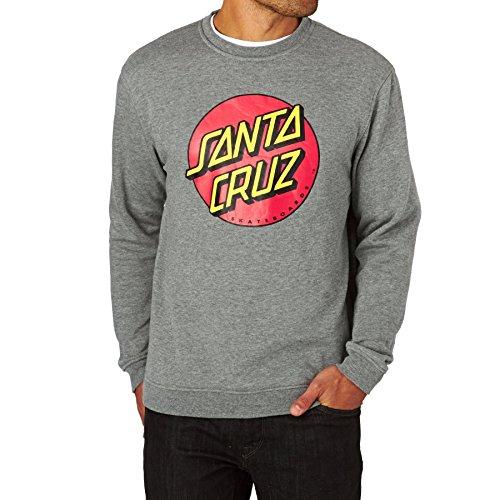 Santa Cruz Sweatshirts - Santa Cruz Classic Dot Crew Sweatshirt - Dark Heather