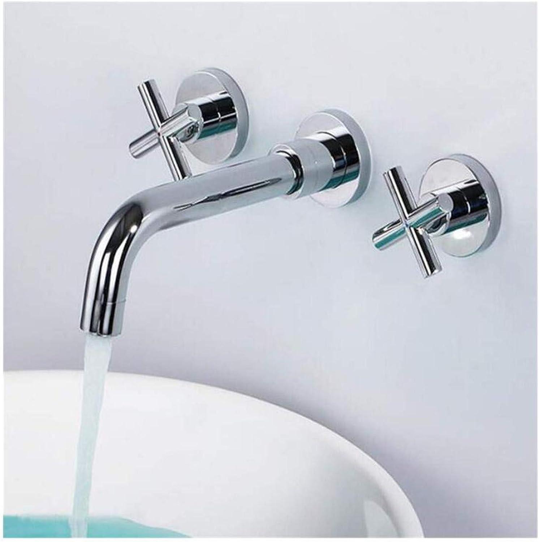 Wasserhahn Küche Bad Garten Wasserhahn Waschtischmischer Messing Chrom Wand Doppelgriff Bad Wasserhahn Ctzl1063