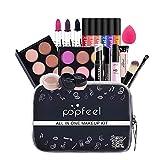 Lifesongs Set de Maquillaje con Kit de cosméticos Corrector de lápiz Labial de Sombra de Ojos para Mujeres niñas 20 Piezas