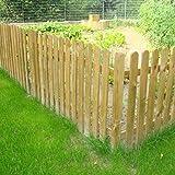 ONLYWOOD Steccato in Legno di Pino Impregnato 180 x 100 cm - Pannello a Listoni Modello NICE - Recinzione per Giardino Aiuola
