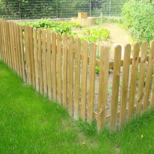 Steccato in Legno di Pino Impregnato 180 x 100 cm - Pannello a Listoni Modello NICE - Recinzione per Giardino Aiuola