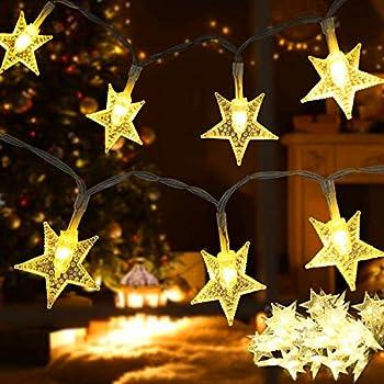 Samyoung 17-Feet 50-LED Waterproof Star String Lights (Warm White)