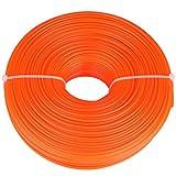 Trimmer Line, 2.4mm Trimmer Line Nylon Cord Wire Round String Petrol Grass Trimmer tondeuse à gazon accessoires Nylon Cord Wire(120m)