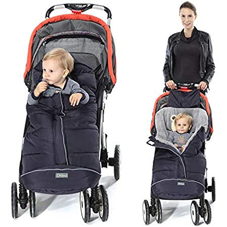 Grey Orzbow Canopy Style Bunting Bag Weather in Car Seats and Strollers Infant Blanket Warm in Winter