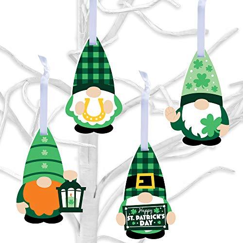 Big Dot of Happiness Irish Gnomes - St. Patrick's Day Decorations - Tree Ornaments - Set of 12