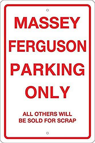 Massey Ferguson Parking Only Retro Look Tin 8 x 12 pulgadas Decoración Cartel de pintura para el hogar citas inspiradoras decoración de pared