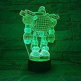 Lámpara De Ilusión 3D Luz De Noche Led El Gigante De Hierro Único Para Niños Para Oficina Para Festival Amigo Regalo De Vacaciones Lámpara De Mesa