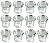 Weck - Glas in Mini-Sturz-Form hoch mit Deckel 140 ml - 12-teilig/1St