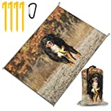 N / A Beach BlanketBernese Mountain Dog Berner Sennenhund Dog Walk  Extra Large 220x145cm Sand Proof Beach Mat Water Resistant Picnic Blanket