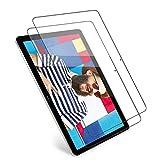 Huawei MediaPad T5 10 10.1 ガラスフィルム【2020最新の製造プロセス】Huawei MediaPad T5 10 10.1 フィルム 専用 強化ガラスフィルム【日本製素材旭硝子製】業界最高硬度9H/高透過率99.9%/3D Touch対応/2.5Dラウンドエッジ加工/自動吸着/指紋防止/気泡ゼロ/超薄型0.3 mm【2枚- -透明】