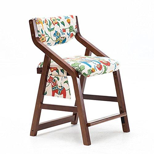 ZHANGRONG- Ascenseur en bois solide de chaise avec le dossier pour 3-18 ans de taille réglable 20 couleurs -Tabouret de canapé (Couleur : E)