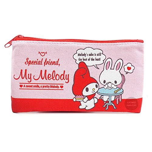 Sanrio Canvas Pencil Case,Coin Pouch,Cosmetic Bag (My Melody [ SAD-FM2-MY ])