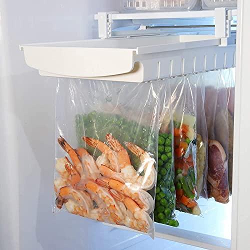 Organizador de bolsas con cremallera para colgar en el refrigerador y congelador
