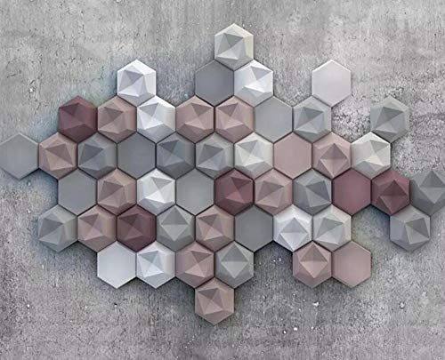 3D-vliesbehang van zijde, voor muren van papier-maché 200*182