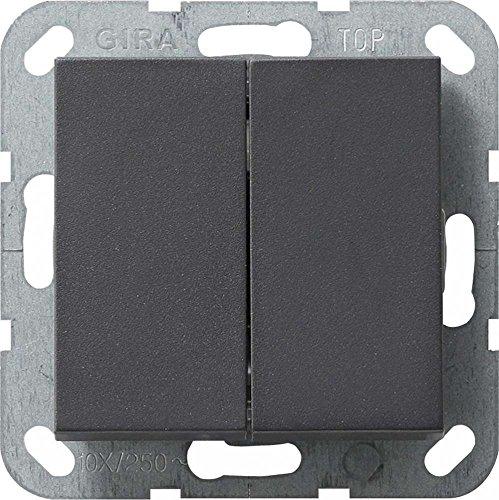 GIRA 012828 Antracita interruptor eléctrico - Accesorio cuchillo eléctrico (10 A, Antracita)