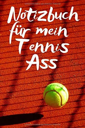 Notizbuch für mein Tennis Ass: Auf dem Platz und für die Notizen und Bilder deines Tages, Notizheft im coolen Design, Punkteraster, 120 Seiten,