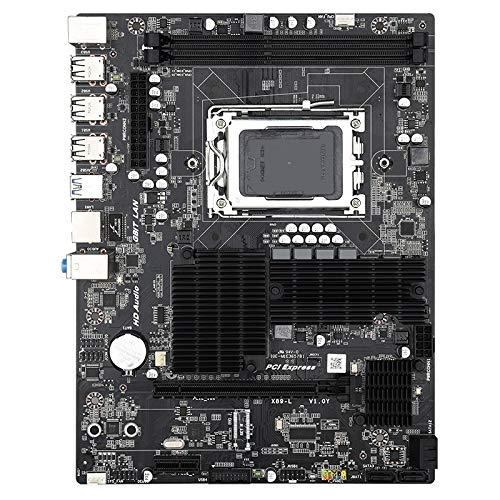 DASFNVBIDFAHB Motherboard, X89 DDR3 Desktop-Computer Mainboard mit Kühler, Unterstützung for AMD Opteron G34 CPU, Discrete Graphics