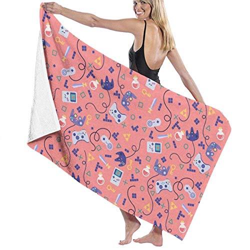 Toallas Shower Towels Beach Towels Bathroom Towels Toalla De Baño Patrón de videojuego Toallas de playa Sábanas de baño Toalla 130 x 80 CM