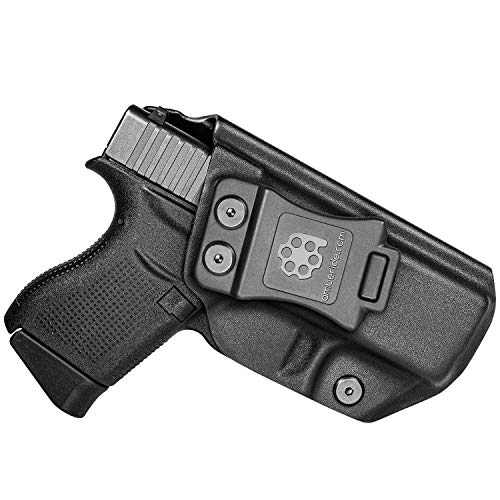 Amberide IWB KYDEX Holster Fit: Glock 43/43X Pistol   Inside Waistband   Adjustable Cant   US KYDEX Made (Black, Right Hand Draw (IWB))