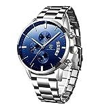 Reloj de hombre cronógrafo analógico de cuarzo reloj militar negro impermeable clásico de negocios relojes de acero inoxidable reloj de pulsera para hombre
