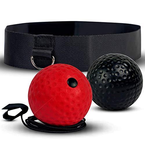 Reflex Ball Set mit 2x Box Bällen & Stirnband | Perfektes Reflex Training für Boxen | Steigern Sie Ihre Geschwindigkeit mit dem Speedball | MMA, Kickboxen und Boxen