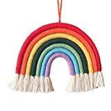 Linpu Wolke Regenbogen hängende Dekoration - Regenbogen hängen Ornamente Regenbogen Hand gestrickt Anhänger Regenbogen Dekoration