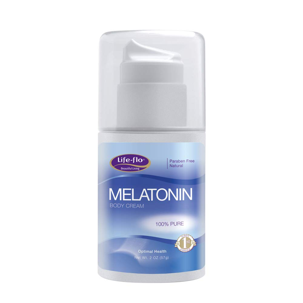Life Flo Melatonin Body Cream Fragrance Free
