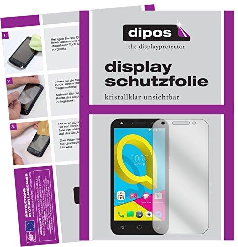 dipos I 2X Schutzfolie klar kompatibel mit Alcatel U5 Folie Bildschirmschutzfolie