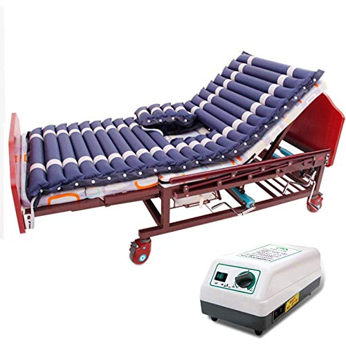 WLKQ Antidekubitus Matratze, Wechseldruckmatratze mit Pumpe, for Ulcer Prevention Bettlägerig Behandlung,Enthält Elektrische Pumpe, Deepblue