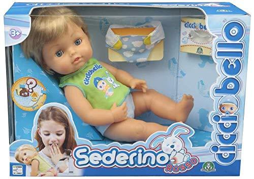Bambolotto Cicciobello Sederino Rosso Giocattolo Bambini 3+