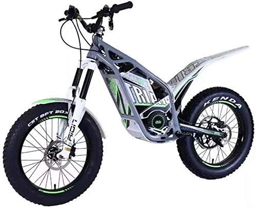 Bicicletas Eléctricas, Bici de la suciedad 20 y 24 pulgadas eléctrico bici de la suciedad for los adultos, la motocicleta eléctrica con la batería 30Ah 1200W Motor hidráulico del freno de disco, gris