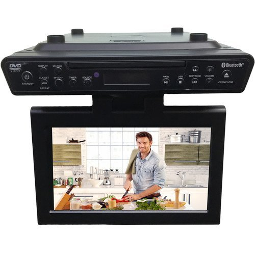 Sylvania Bluetooth Wireless Under the Counter Cabinet Kitchen LED TV/DVD Combo