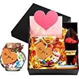Capsule Message Box Set, 100 Pieces Love Capsule Message in A Wishing Bottle Friendship Love Cute Smiling Face Loving Heart Birthday Anniversary Mother's Day Present for Friends Family and Lover