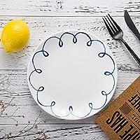 食器プレートプレートとボウル配置が簡単北欧スタイルの11のダイニングテーブル薄暗いフルーツプレートウエスタンプレート朝食プレートセラミック食器-te