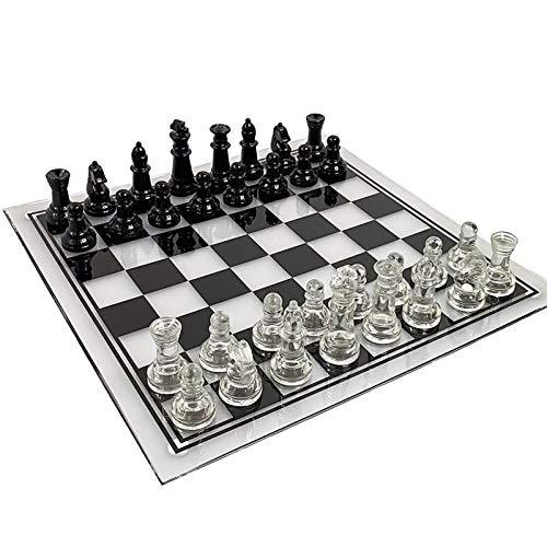 POOPFIY 35 cm * 35 cm Juego de ajedrez Grande de Lujo...
