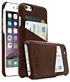 Bastex iPhone 6 Case, Premium Genuine Leather Slim Fit Snap On Executive Wallet Card Case for iPhone 6, 6s