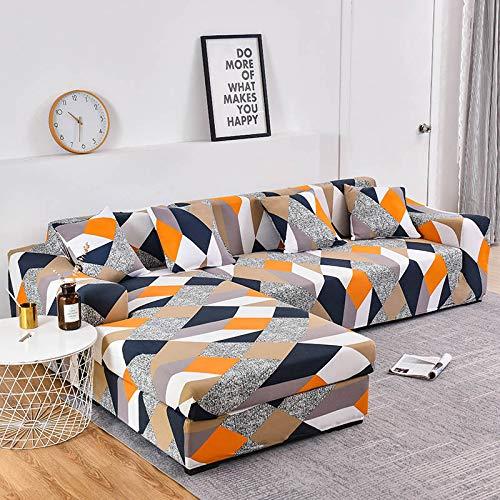 WXQY Funda de sofá elástica con Estampado Floral para Sala de Estar Funda Protectora para Silla de salón Funda de sofá a Prueba de Polvo Completa A32 3 plazas