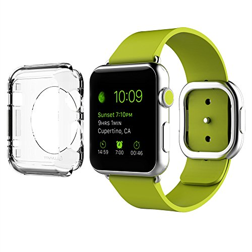 Luvvitt Cristal] Full Body custodia rigida trasparente con schermo temperato per Apple Watch/Watch sport/Watch Edition 38 mm Clear 42mm