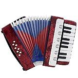 SCOC Niños Instrumentos de Juguete Los niños Juguete del Instrumento Musical 8 Bass acordeón Educativo for niños Amateur Principiante 17 Teclas Regalo para niños y niñas