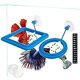 2 Pcs Fish Feeding Ring, Fish Safe Floating Food...