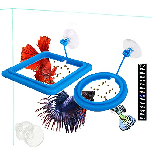2 Pcs Fish Feeding Ring Cover