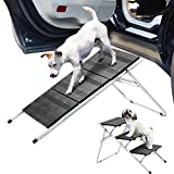 GHqY paw ramp Folding 3-Tier Portable Pet Step Stool Wide Pedal Anti-Slip Sturdy 3 Step Dog ramps Ladder for Small Dogs Height Adjustable Dog Stair for high beds for Couch Sofa car SUV Truck