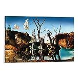 Cuadro artístico de Salvador Dalí Cisnes Un Pintor Surrealista Español Salvador Dalí Cuadro Cuadro Cuadro Cuadro Cuadro Cuadro Cuadro Cuadro Cuadro Moderno Familiar Decoración Pósters 20x30cm