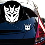 Yoonek Graphics Decepticon from Transformer Decal Sticker for Car Window, Laptop and More. # 543 (4' x 3.6', White)