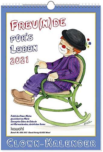 Freu(n)de für's Leben 2021: Wandkalender mit Clown-Motiven